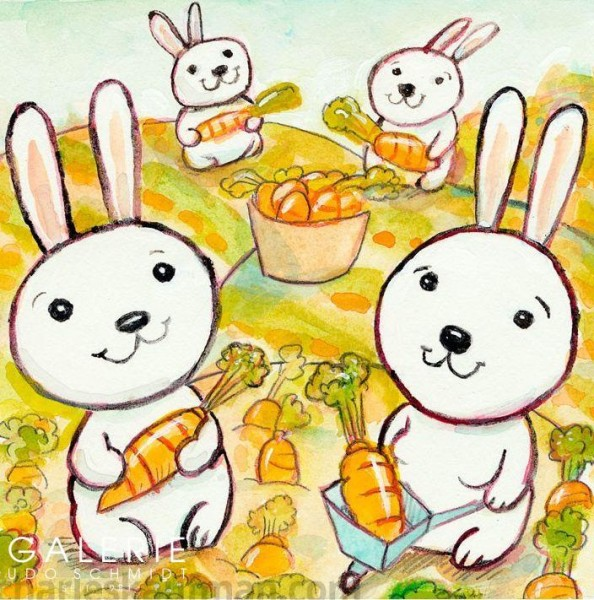 Rabbits in a Carrot Field